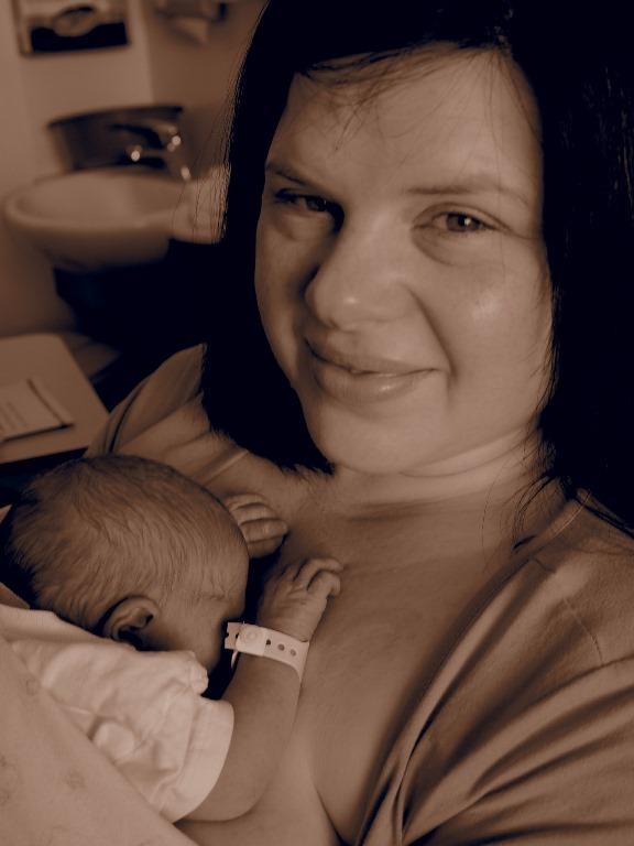 Bec & Phoebe cuddles