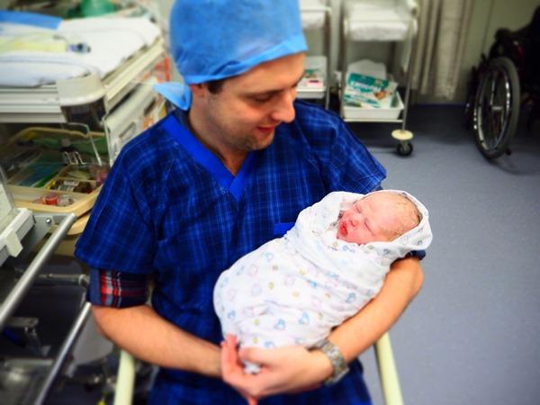 Jacob holding Phoebe