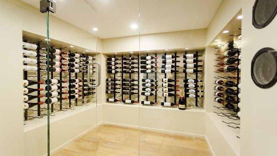 Tim & Anastasia's wine cellar