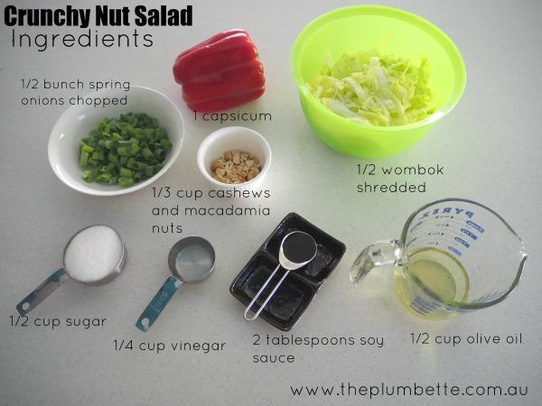 crunchy nut salad tradies lunchbox