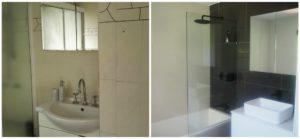 black and white bathroom renvoation