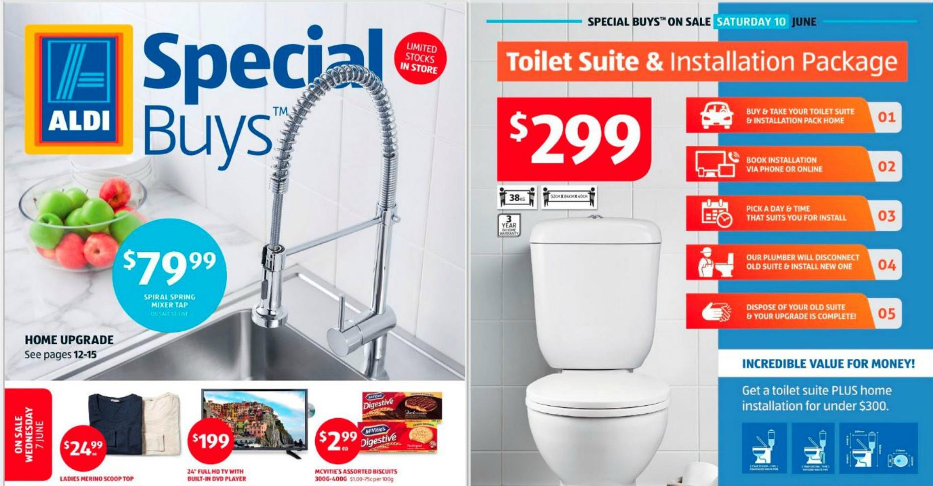 ALDI plumbing products avoid buying