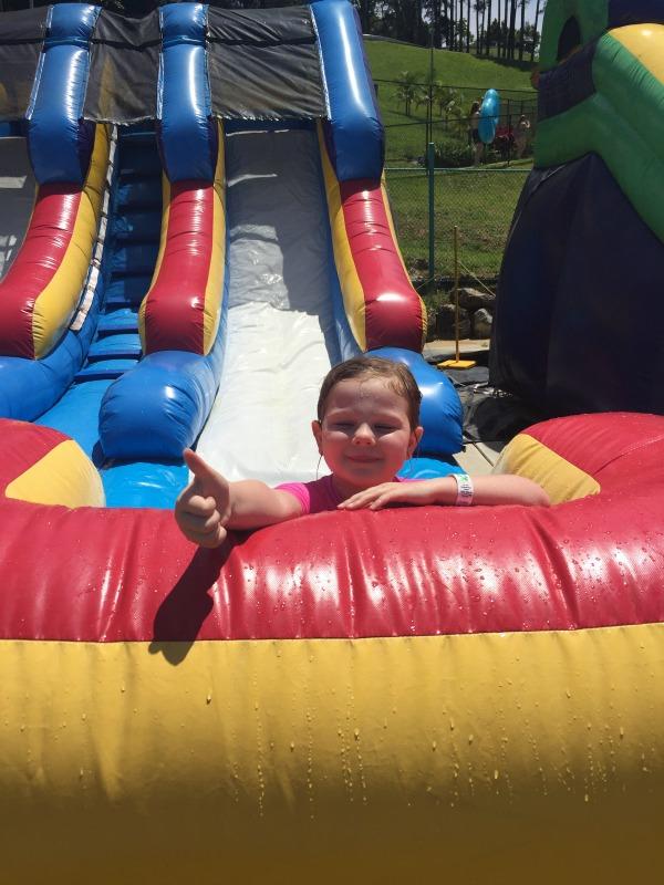 Maggie at the Big Banana Water Park