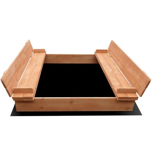 Children's square sandpit