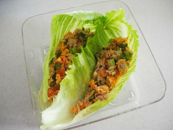 tuna for easy tuna salad lettuce wraps the plumbette