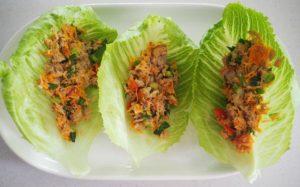 easy tuna salad lettuce wraps the plumbette