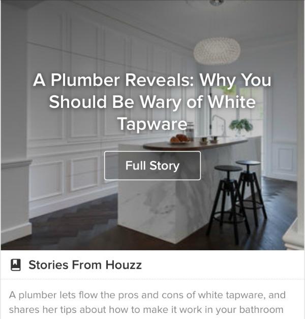houzz white tapware
