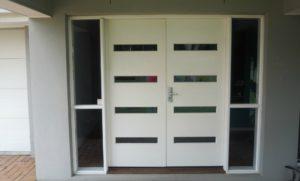 behind open doors