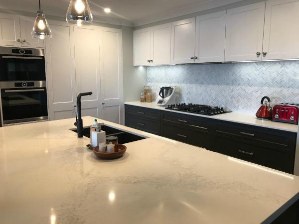 kitchen renovation after bench