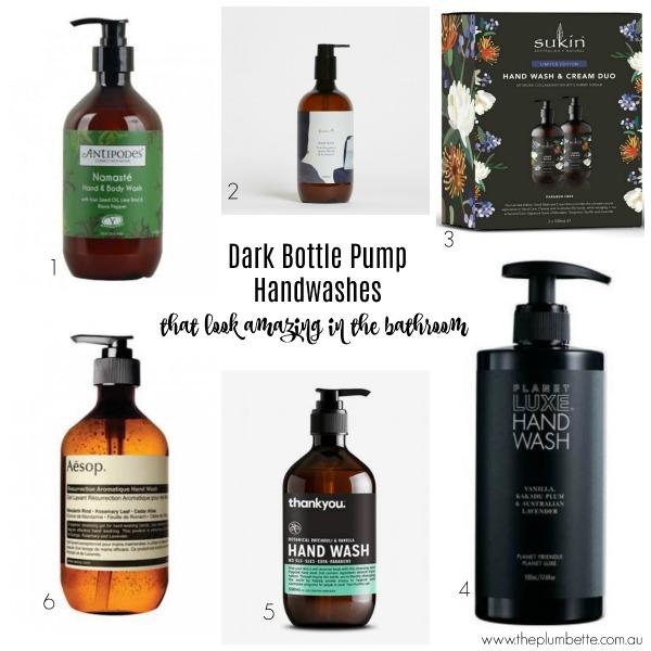 dark bottle pump handwash