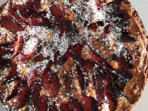 spiced plum cake header