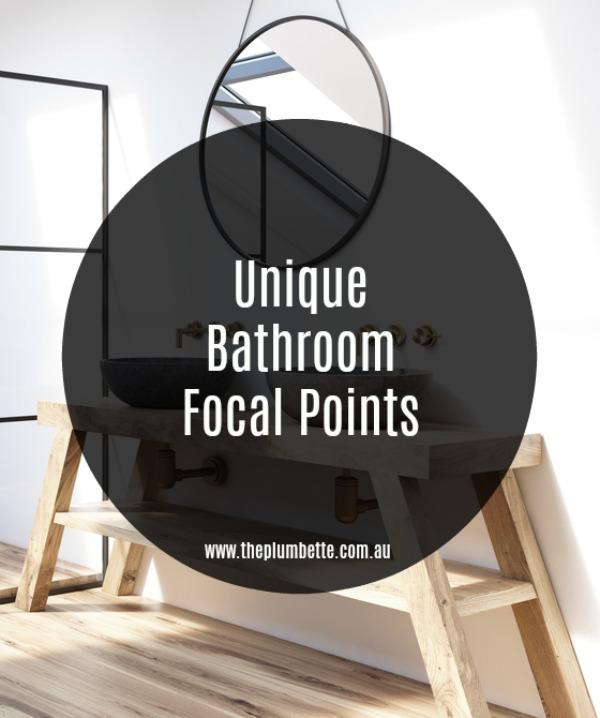 unique bathroom focal points