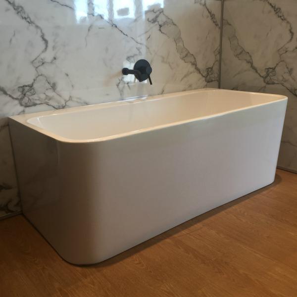 reece back to wall freestanding bath