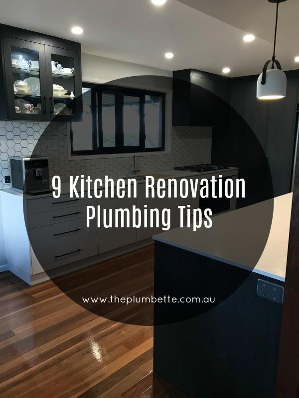 Kitchen renovation plumbing tips