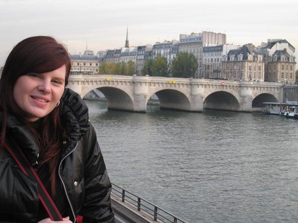 Posing in Paris.