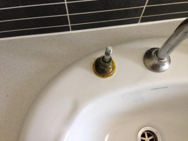 under taps