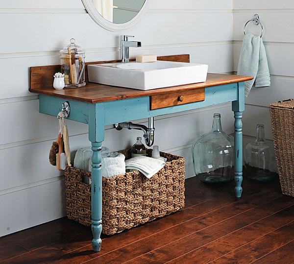 upcycled vanity basin