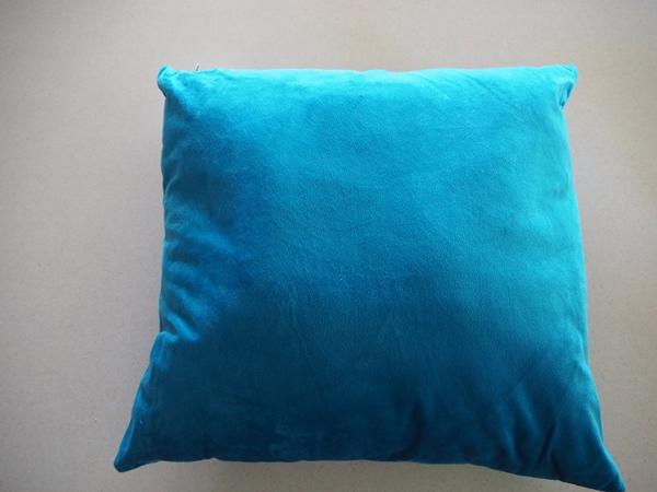 Kmart Teal Velvet Cushion