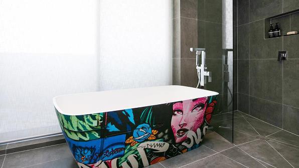 The Block Kingi and Caro Master Bathroom
