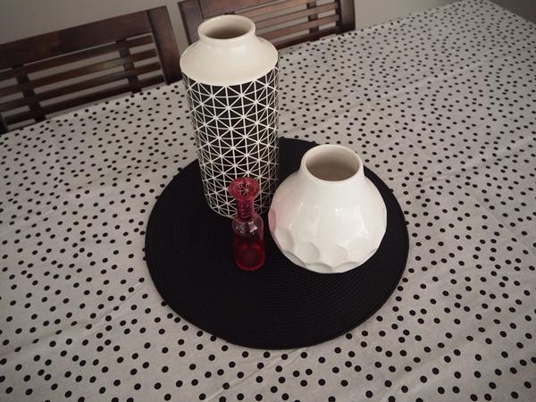 spotty tablecloth