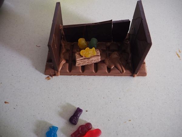 chocolate nativity scene