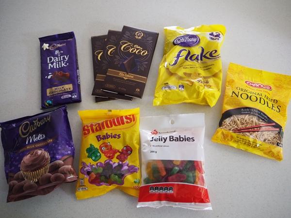 Chocolate Nativity Scene Ingredients