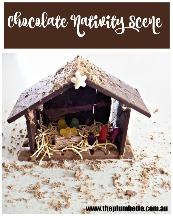Chocolate Nativity Scene the Plumbette