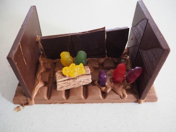 chocolate natitivity scene