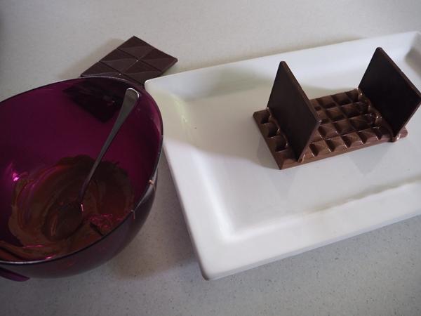 base of chocolate nativity scene