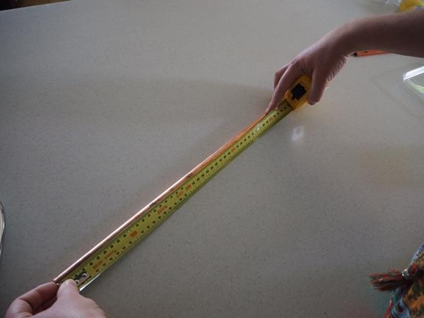 measuring copper pipe