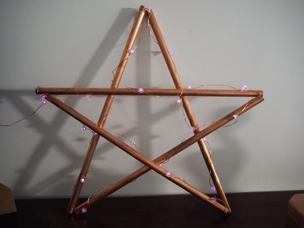 Copper Pipe Star Light