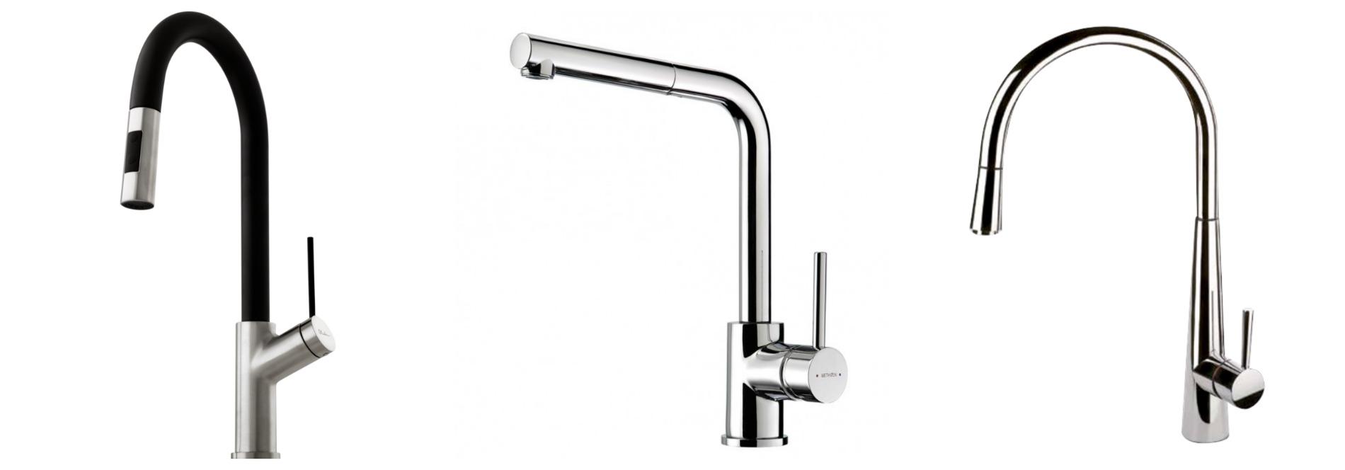 retractable sink mixer taps