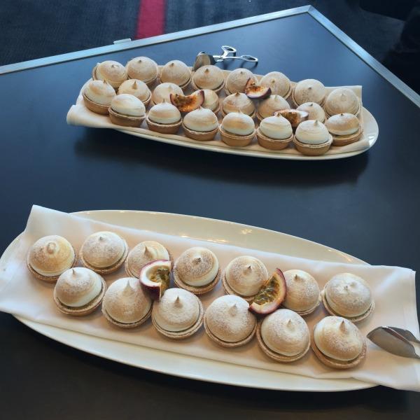 passionfruit curd meringues