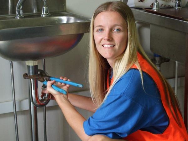 Carlie female plumbing apprentice