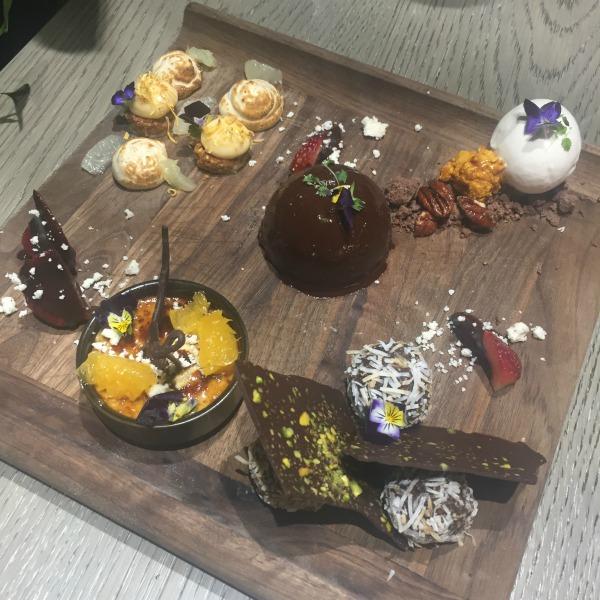 dessert tasting platter Asana Brisbane