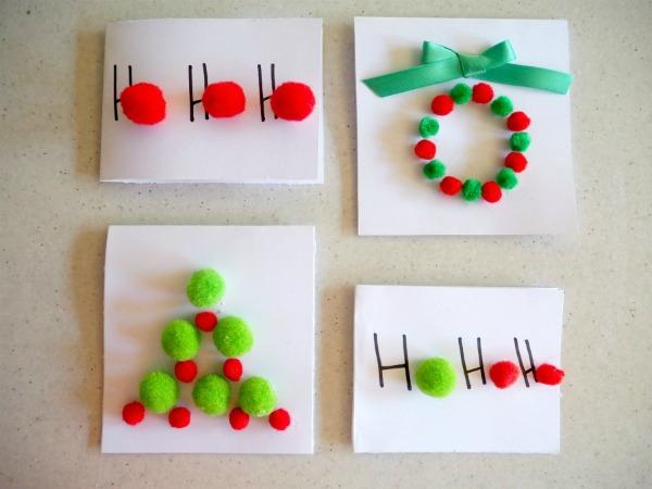 Pom Pom Christmas Cards