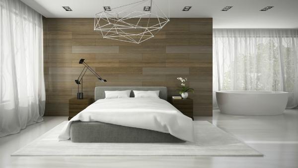 feature bath in bedroom