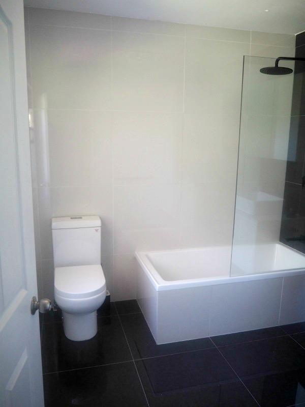 toilet after bathroom renovation