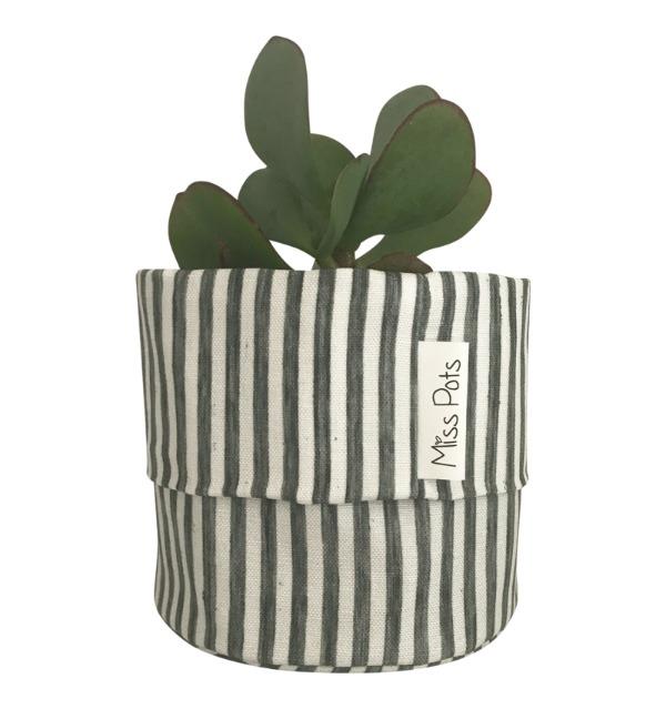 blue stripes pouch miss pots
