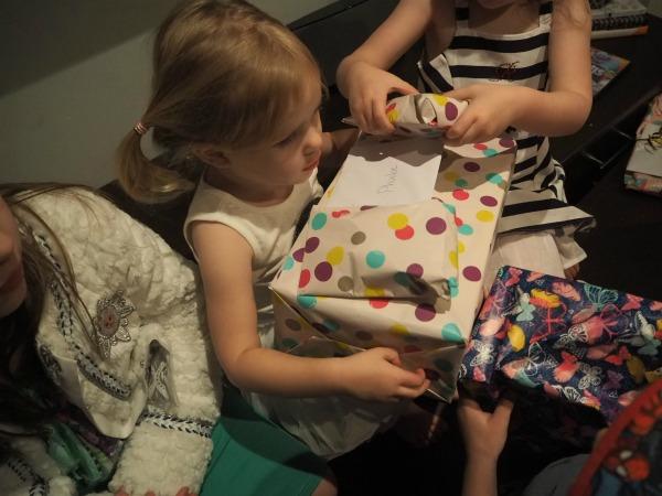 Phoebe and birthday presents