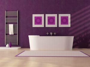 Ultra Violet in Bathroom Interiors