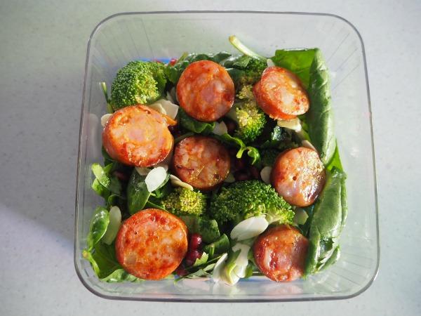 Broccoli, Spinach and Pomegranate Salad