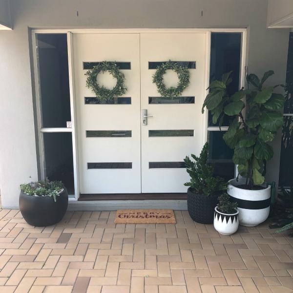 front door hang wreaths
