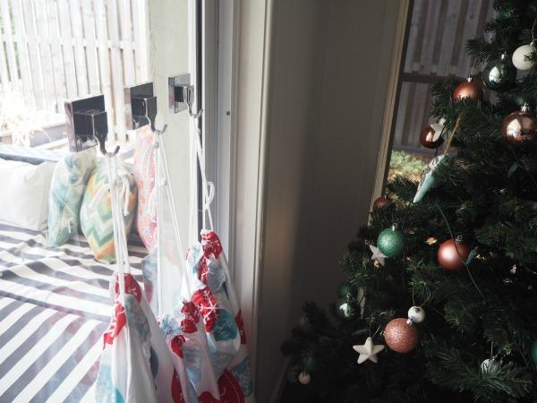 santa stockings on hooks