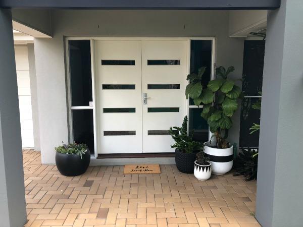custom designed front door mat