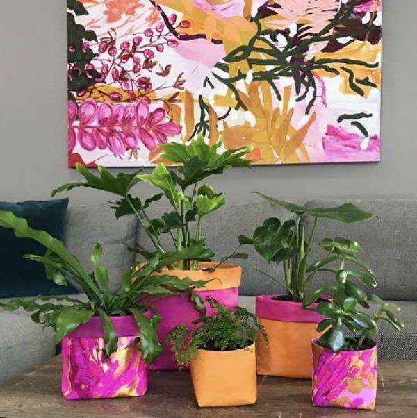 Fabric planter pouches Mckenzie
