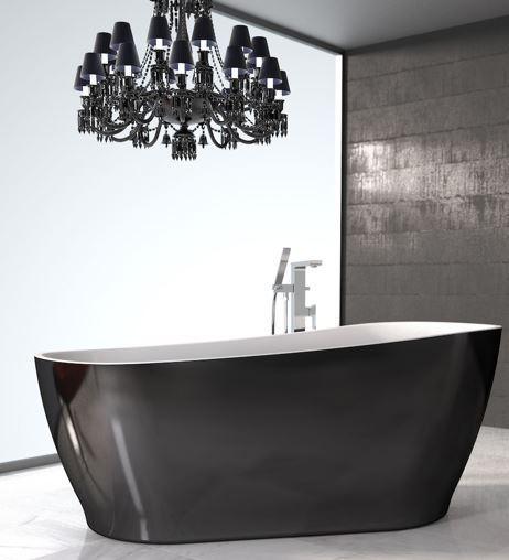 caroma noir freestanding bath
