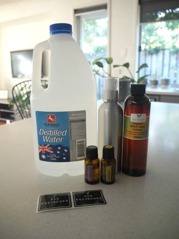 DIY air freshener ingredients