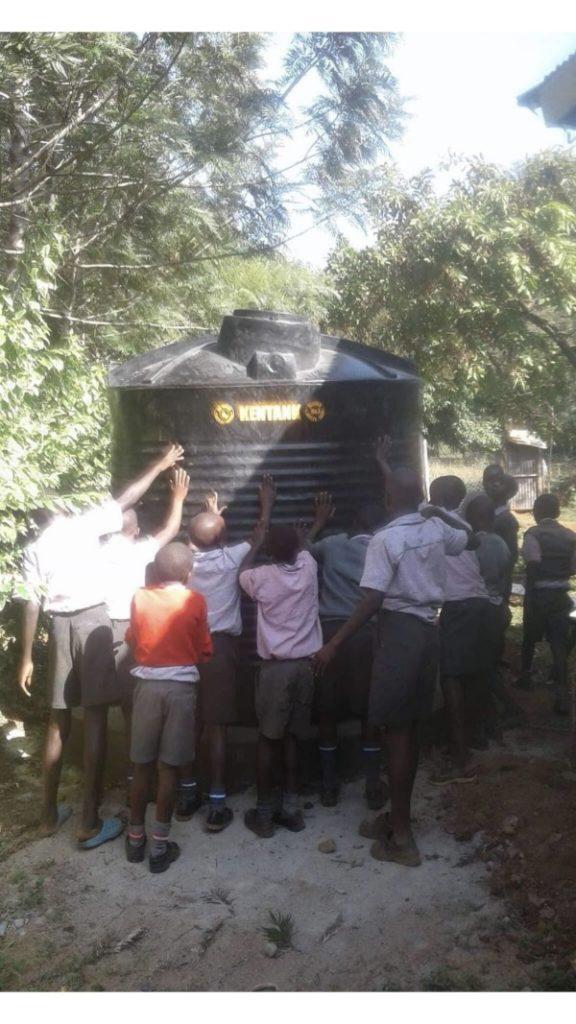 rainwater tank in Kenya