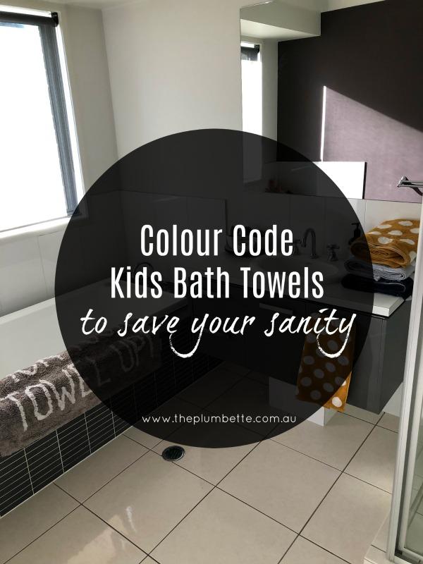 colour code kids bath towels